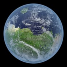 """FTA: """"What if instead of dust and rocks, our planetary neighbor Mars were a bit more lush? What if it had oceans, an Earth-like atmosphere, and green life coating its land? These are the questions Kevin Gill, a software engineer living in New Hampshire, sought to answer with his project, A Living Mars."""" Terraforming Mars, perhaps? (via The Atlantic)"""