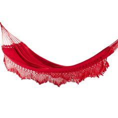 12c148a55 Rede De Descanso Redes de Dormir Casal Clone Vermelho