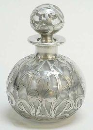 Vintage Art Glass Perfume Bottle