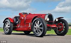 Classic car: The 1933 Bugatti Type 51 Grand Prix two-seater owned by the late Fitzroy John Somerset, the fifth Lord Raglan