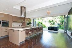 Image result for bifold doors kitchen