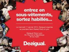Desigual organise sa première « Semi-naked Party » à Lyon - par ...