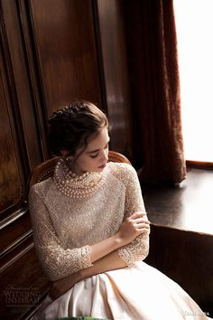 .beautiful | pearls | lace | braid | wood grain.