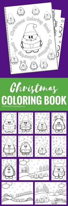 Christmas Colouring Book - this super cute 15 page colouring book is just 2.95 from The Purple Pumpkin Blog! You can't buy it anywhere else as the cute characters are all designed in-house. This is one to keep the kids busy while they're waiting for Santa!
