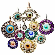 Evil eyes in diamonds and gems. Yes, please!
