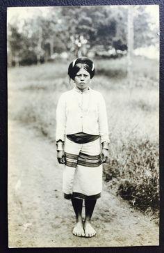Vintage 1910 - 1920 Igorot (poss Bontoc) woman, PHILIPPINES RPPC #5