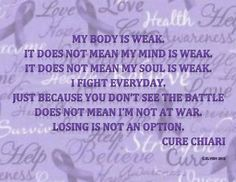 Chiari and Syringomyelia. Find a cure for my battle!
