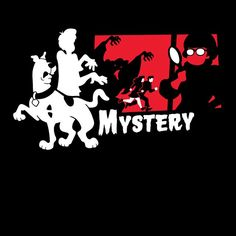 """Mystery"" by Baz is $10 today at ShirtPunch.com (07/29). #tshirt #ScoobyDoo #Archer #ShaggyRogers #FredJones #DaphneBlake #VelmaDinkley"