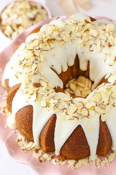 This Almond Amaretto Bundt Cake is soft, moist and full of delicious almond flavor! It's easy to put together and hard to resist! (more…) The post Almond Amaretto Bundt Cake appeared first on Life Lo Köstliche Desserts, Delicious Desserts, Dessert Recipes, Bunt Cakes, Cupcake Cakes, Cupcakes, Amaretto Cake, Amaretto Flavor, Almond Cakes