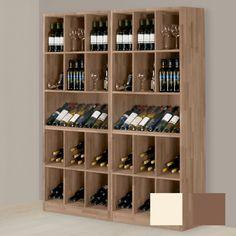 Außergewöhnliche Weinpräsentation - Weinregal PRESTIGE 9 aus massiver Eiche, dunkelbraun gebeizt.