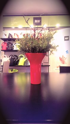 Red attractive vase designed by famous designer Eero Aarnio. Famous Designer, Vase, Red, Vases, Jars