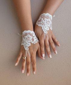 ivory wedding glove Bridal Glove ivory lace gloves by WEDDINGHome, $25.00