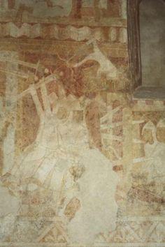 Fresco in Church, Hornslet, Denmark (1100-1200)