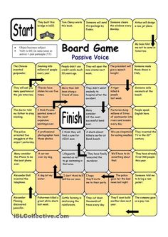 Board Game - Passive Voice worksheet - Free ESL printable worksheets made by teachers: