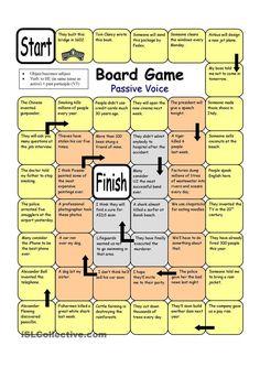 Board Game - Passive Voice worksheet - Free ESL printable worksheets made by teachers: