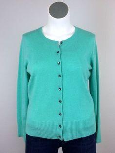 NWT $125 Apt 9 XL Soft Cashmere Aqua Teal Green Knit Cardigan Sweater Jacket #Apt9 #Cardigan