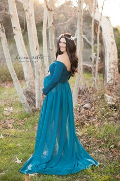 Beautiful momma in our #roxygown in #teal.