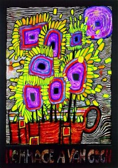 Friedensreich Hundertwasser - Hommage a van Gogh (2000) - I got to see the real one in an exhibition. Beautiful!