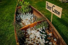 25 Reasons to Love an Outdoor Fall Wedding The brisk temperature mean you can have a beer canoe without worrying about anything getting warm. The post 25 Reasons to Love an Outdoor Fall Wedding appeared first on Outdoor Ideas. Perfect Wedding, Dream Wedding, Wedding Day, Spring Wedding, Canoe Wedding, Wedding Gowns, Destination Wedding, Rustic Garden Wedding, Elegant Wedding