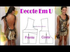 Aula Grátis Modelagem Decote em U - VIP Modelagem - YouTube