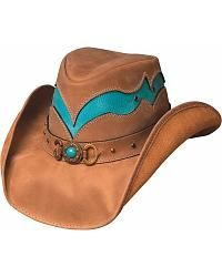 Bullhide Cascade Range Leather Outback Hat - Sheplers