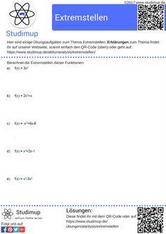 Arbeitsblatt zur Potenzregel (Ableitung). Es kann als Faltblatt und ...