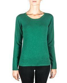 Damen Kaschmir Pullover Rundhals rainforest grün front Elegant, Sweatshirts, Tops, Sweaters, Fashion, Green, Cashmere Wool, Cashmere Sweaters, Women's