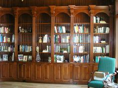 Family Room Library Room | BP - Library - traditional - family room - other metro - by Covenant ...