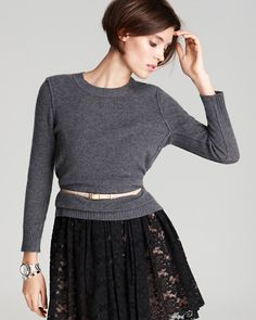 Bloomingdales cashmere with exposed seams