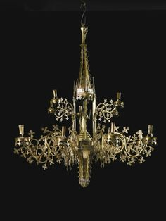 Kappelkrone (Tabernacle Chandelier), copper alloy South Netherlandish or German probably Dinand or Nuremberg, late 15th century. Estimate: £200,000-300,000. Photo: Sotheby's.
