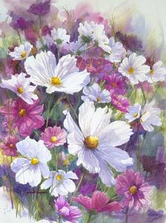 painting flowers images - Google Search