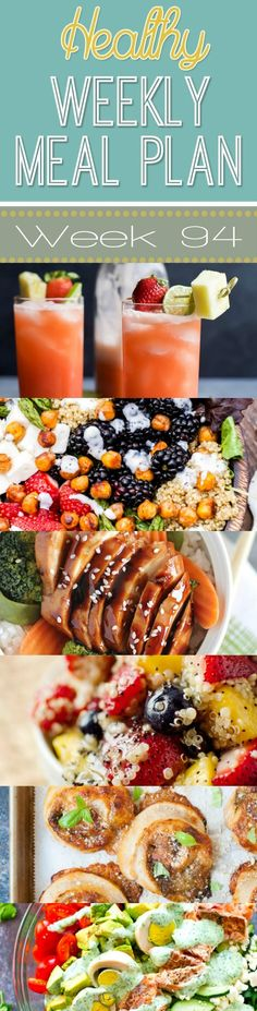 Make your life easier AND healthier with this family friendly Healthy Meal Plan! Healthy recipes that you & the kids will love for breakfast, lunch, and dinner with a few snacks and desserts snuck in! Clean Eating, Healthy Eating, Delicious Dinner Recipes, Healthy Recipes, Healthy Meals, Easy Recipes, Make Ahead Meals, Easy Meals, Healthy Weekly Meal Plan