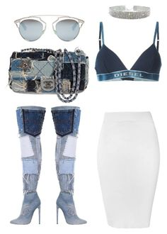 """Untitled #284"" by milly-oro on Polyvore featuring Diesel, Glamorous, Chanel and Christian Dior"