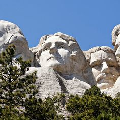 Mount Rushmore Presidents from Lower Platform