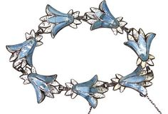 Margot de Taxco Enamel Flower Bracelet Sterling Silver – Yourgreatfinds