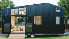Build Tiny's latest model was created in collaboration with architecture firm First Light Studio. With its detachable trailer and ability to run either on or off-the-grid as required, the tiny house … Tiny Mobile House, Off Grid Tiny House, Small Tiny House, Best Tiny House, Modern Tiny House, Tiny House Design, Tiny House On Wheels, Off The Grid Homes, Modern Houses