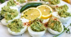 DeviledEggsWithGuacamole | His Recipe for Deviled Eggs is Unbelievably Amazing