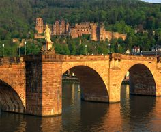 Heidelberg Castle in Heidelberg, Germany is a famous ruin in Germany and landmark of Heidelberg. The castle ruins are among the most important Renaissance structures north of the Alps. The castle has only been partially rebuilt since its demolition in the 17th and 18th centuries. It is located 80 meters (260 ft) up the northern part of the Königstuhl hillside, and thereby dominates the view of the old downtown. .