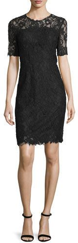 Bellamy Lace Long-Sleeve Dress, Black by Elie Tahari at Bergdorf Goodman. Dress Outfits, Fashion Dresses, Lace Dress Styles, Lace Sheath Dress, Elie Tahari, Jumpsuit Dress, Dress Black, Formal Dresses, Women's Dresses