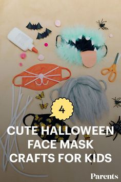Sure, face masks can be annoying but for the great good of our community, we wear them. So, let's have some fun with them! Here are four fun ways kids can decorate their masks this halloween. #halloweencrafts #kidfriendlycrafts