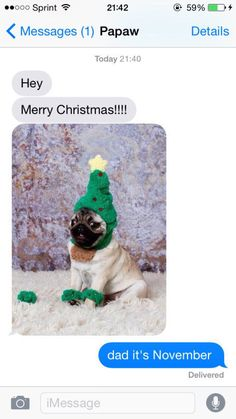 Season's greetings:   33 Texts That Will Make You Laugh Way Harder Than You Should
