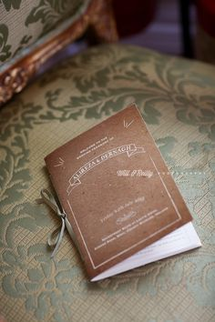 Love this kraft effect ceremony booklet we created for Dernagh & Alireza Irish Traditions, Wedding Stationary, Unique Weddings, Booklet, Wedding Ceremony, Brides, Whimsical, Wedding Photos, Wedding Inspiration