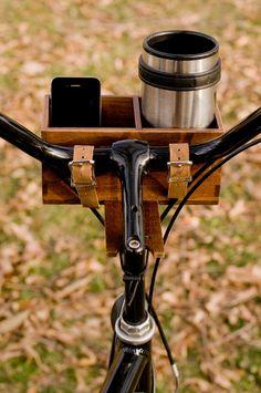 Hardwood Bike Basket.