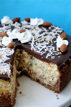 Why eat a candy bar when you could eat it in a cheesecake? Get the recipe from The Curvy Carrot. - Delish.com