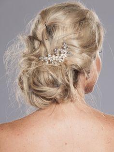 Stunning  Bridal Flower Hair Comb  Wedding by AnnaChristinaBridal, $29.00