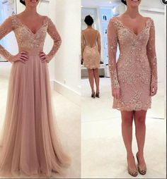 Lace Appliques pink Long Prom Dress,Sexy Backless Prom Dress,V neck Prom Dress,Charming Prom Dress,Prom Dress 2016,