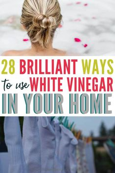 White vinegar uses - there are so many! I had no idea there were so many ways to use white vinegar in the home. I've now replaced almost all of my household cleaners with white vinegar. It's so much safer for my family and much easier on the budget! Uses For White Vinegar, White Vinegar Cleaning, Vinegar Uses, Vinegar And Water, Vinegar Stain, Vinegar Cleaner, Grout Cleaner, Household Cleaning Tips, Cleaning Recipes