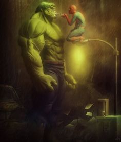 Spidey and hulk Marvel Comic Universe, Marvel Art, Marvel Dc Comics, Anime Comics, Marvel Heroes, Marvel Avengers, Comic Book Characters, Comic Book Heroes, Marvel Characters