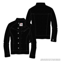 Mens-Black-Leather-Jacket-Vector-Template