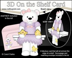 3D On the Shelf Card Kit Cute Livvy Bear s Easter Chicks on Craftsuprint - View Now!